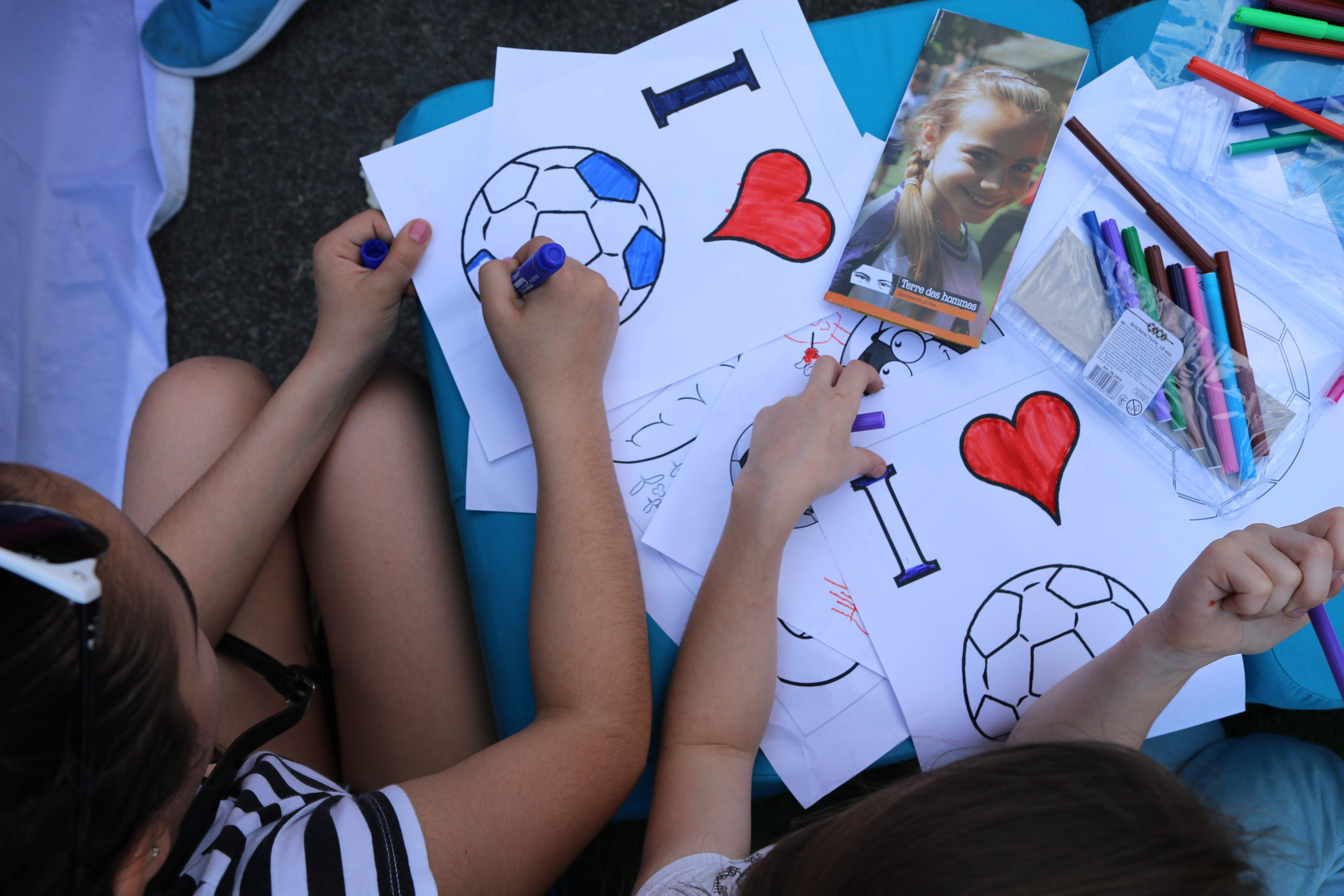 [Ukraine] Promoting children's rights and sports benefits for children at UEFA Champions Festival